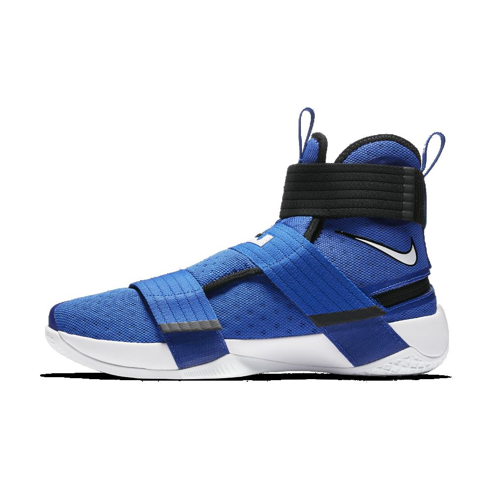 meet 72aaa 22c02 Nike LeBron Soldier 10 FlyEase Men s Basketball Shoe Size 12.5 (Blue)