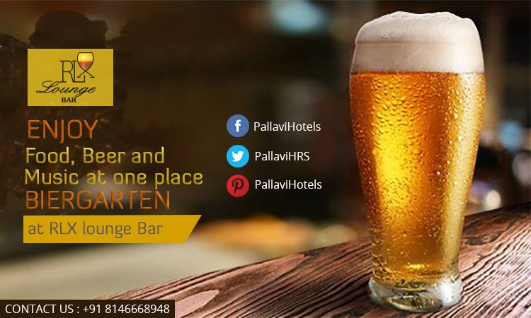 Enjoy delicious #food, #beer and live music all together at Pallavi RLX Lounge #Bar