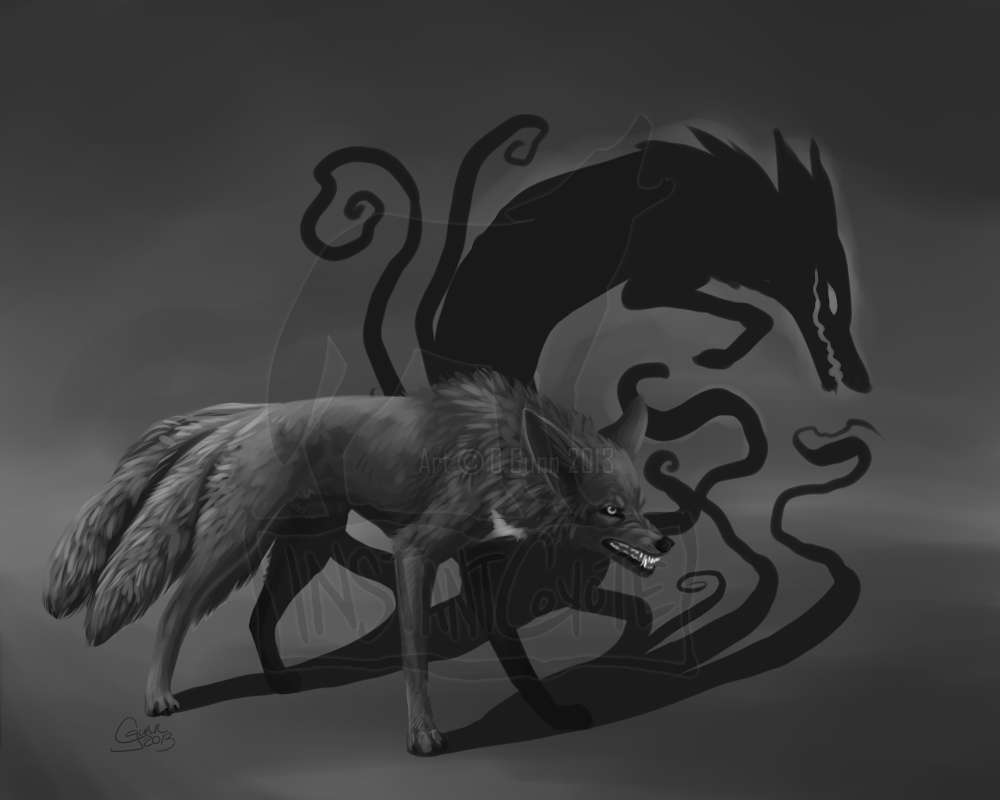 wolves and other canines wolf evil dark night demon