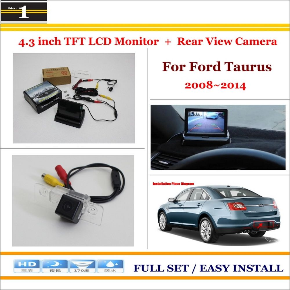 Car Rearview Camera 4 3 Lcd Screen Monitor 2 In 1 Parking