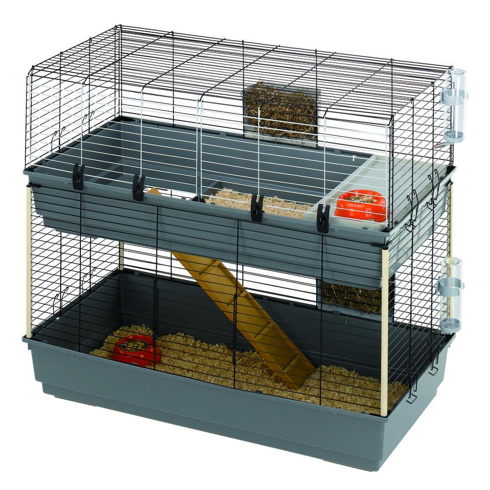 Rabbit 120 Double Rabbit Products Small Pet Indoor Rabbit Cage Indoor Rabbit Rabbit Hutches #ware #living #room #series #small #pet #habitat