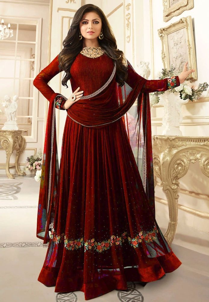 BlackWhite Indian Bollywood Style Designer Wedding Wear Indian Gold Sequins Embroidery Women/'s Party  Gown Anarkali Gown Pakistani wedding