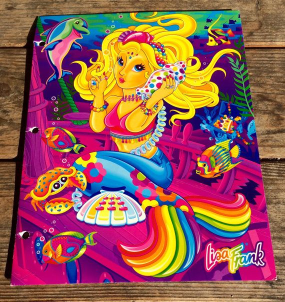 Extreamly Rare Lisa Frank Mermaid Folder