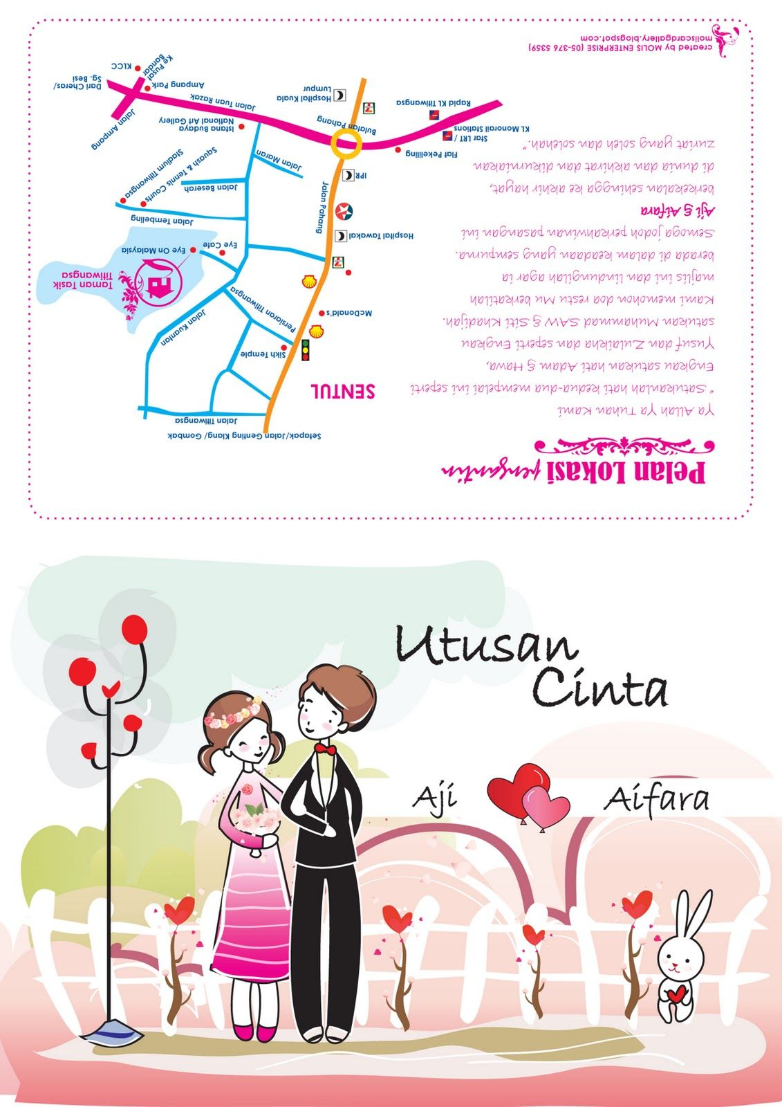 Utusan Cinta Kad Kahwin Invitation Cards Cards