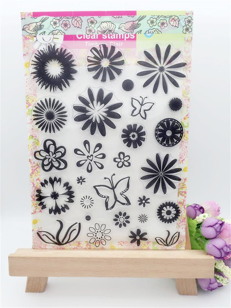 Snow and flowers design clear silicon stamps scrapbooking stamp for