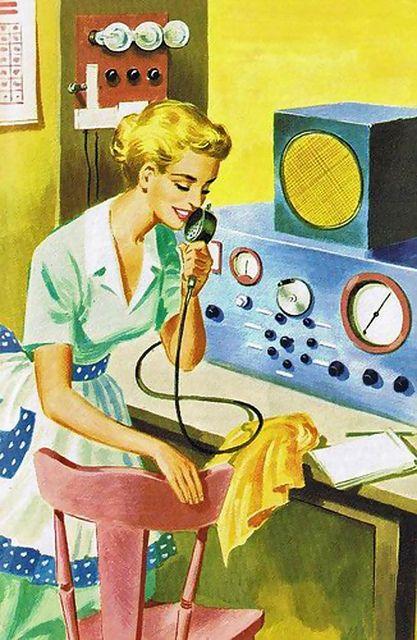 Early Cell Phone Ham Radio Retro Futurism Retro Futuristic