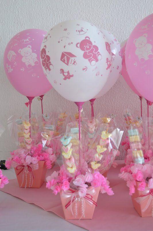 9 Ideas para hacer hermosos centros de mesa con globos ideas baby
