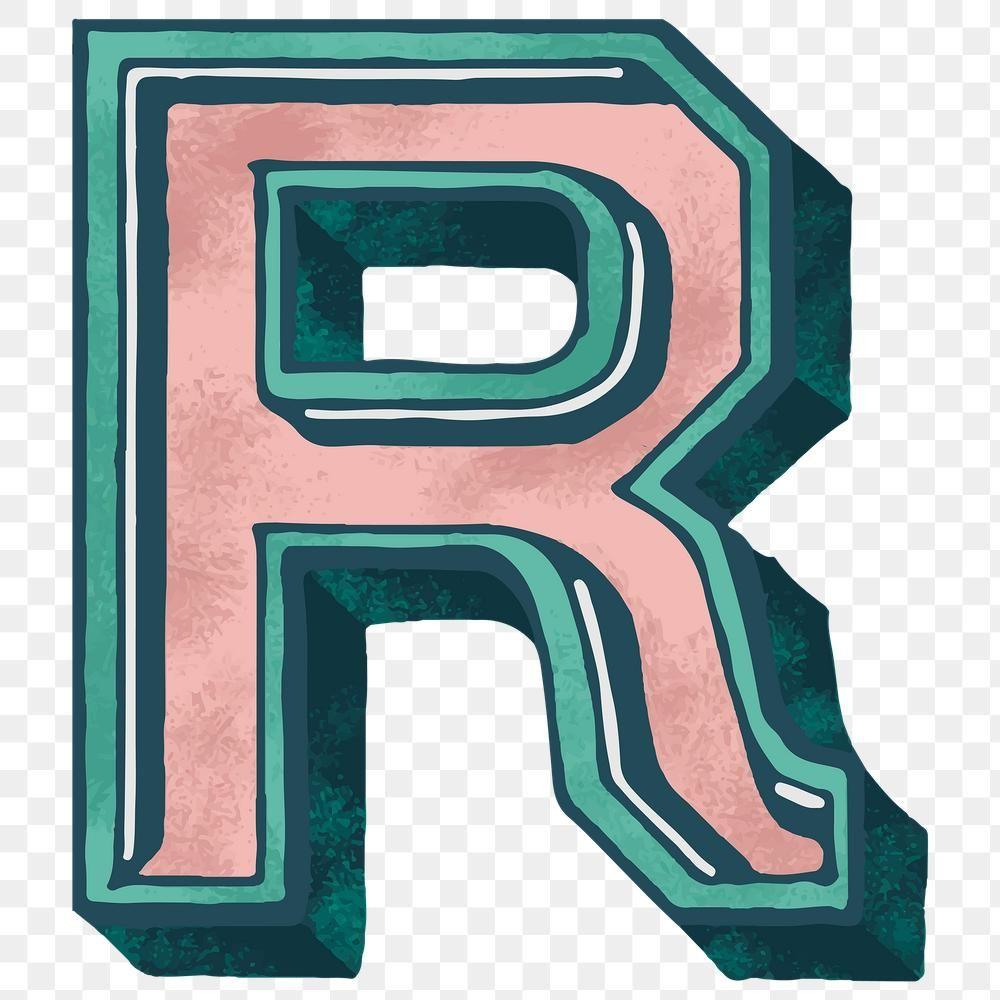 Vintage Varsity Letter R Png Alphabet Free Image By Rawpixel Com Sasi Lettering Letter R Varsity Letter