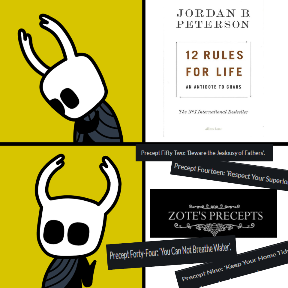 The Dirtmouth Gazette S Editor Bretta Has Called Zote The Sexiest Philosopher Of Hallownest A Perfect 10 10 Score On Hollow Art Hollow Night Halloween Memes