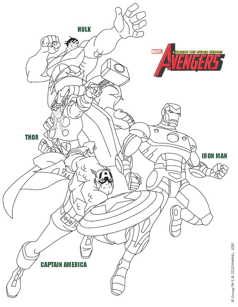 Voici un coloriage in dit des avengers voici un dessin de - Dessin de thor ...