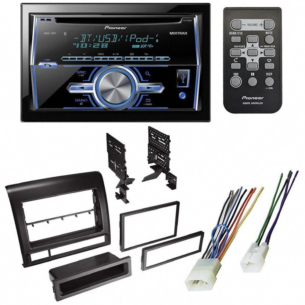 toyota tacoma 2005 - 2011 car stereo receiver radio dash installation  mounting kit w/ wiring harness #homestereoinstallation