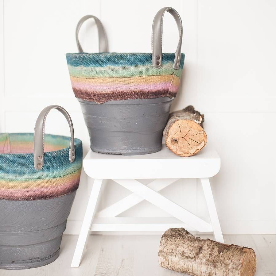 Rubber Storage Bucket by Ebury Home and Garden. I'm obsessed with pretty much everything these guys do. Dream home time.... their product photography is so lovely too.