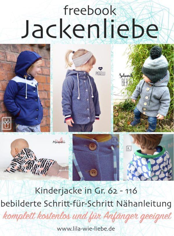 Photo of Baby- und Kinderjacke nähen (kostenloses Schnittmuster) – HANDMADE Kultur