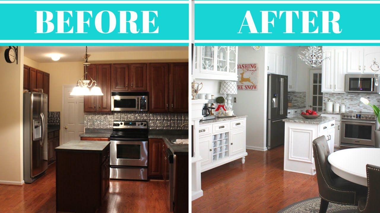 Kitchen Makeovers On A Budget Before And After Kitchen Makeover Reveal & Tour  Before & After  Kitchen Make
