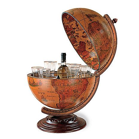 Antique Tabletop Globe Bar   52 Unique Christmas Gift Ideas For The Home
