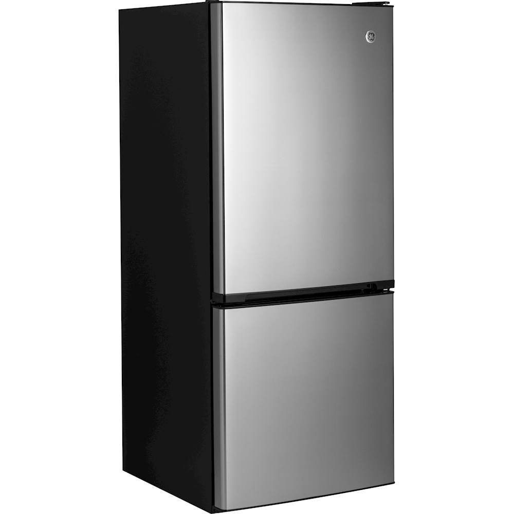 GE   10.5 Cu. Ft. Bottom Freezer Counter Depth Refrigerator   Stainless