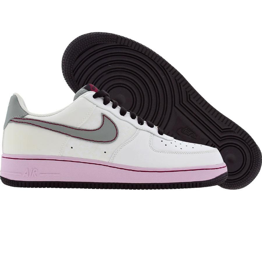 850eb736690 Nike Womens Air Force 1 07 Low (white   silver   doll   cave purple)  315115-102 -  74.99