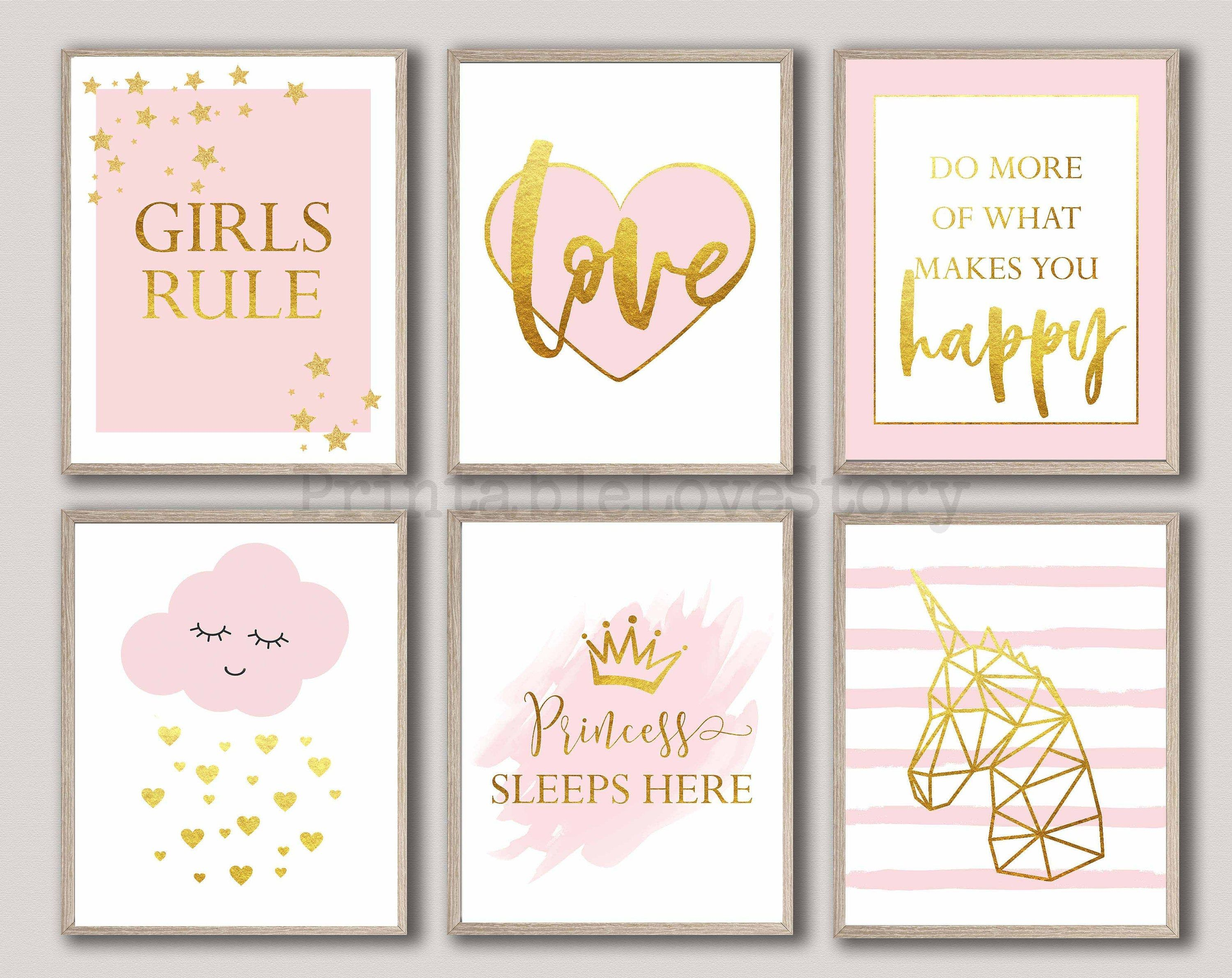 Pin By Linda Vzqz On Holly Room In 2021 Wall Art Girls Bedroom Pink Gold Nursery Nursery Wall Decor Girl Wall art for girls rooms