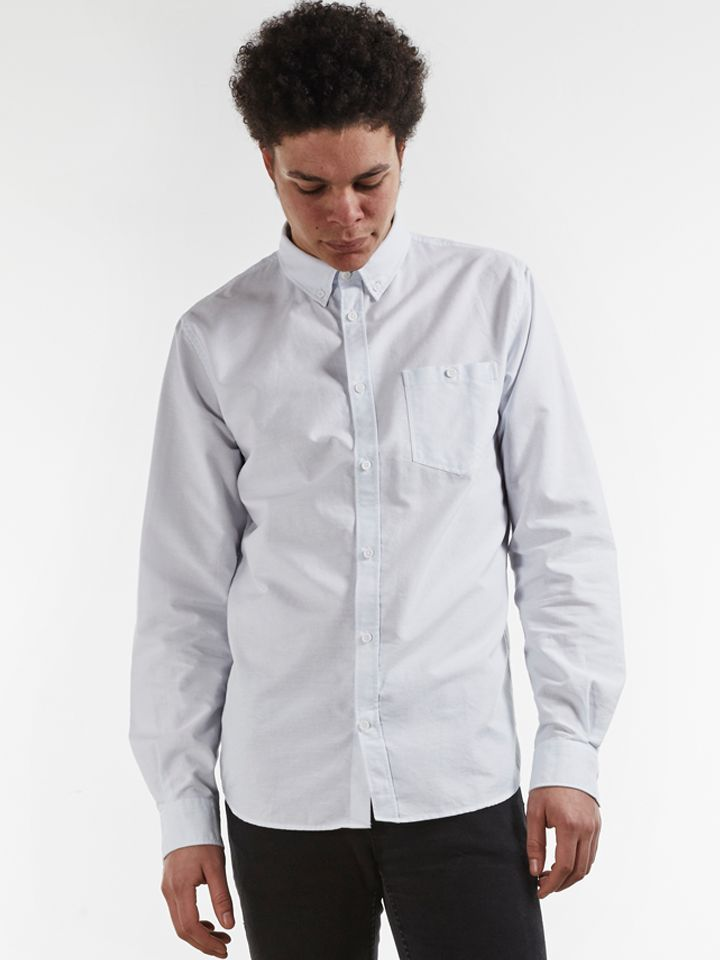 Norse Projects Hemd Anton Oxford LS Pale Blue Stripe