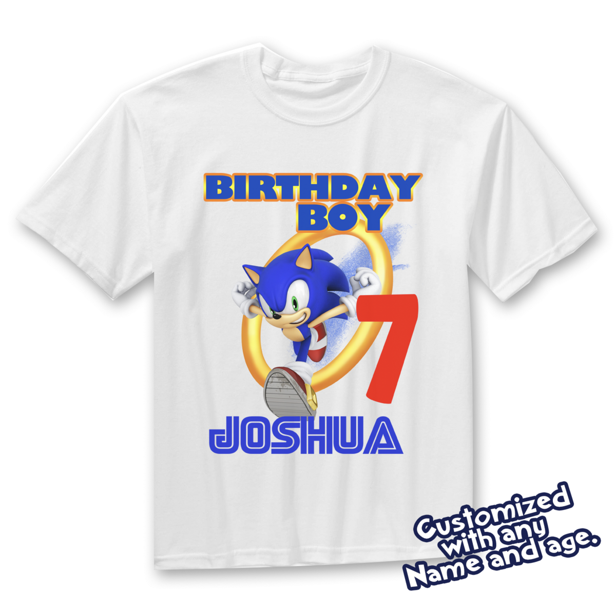 Sonic Birthday Shirt Customized Name And Age Personalized Birthday Shirts Sonic Family Shirts Is Completely Custom Sonic Birthday Sonic Party Hedgehog Birthday