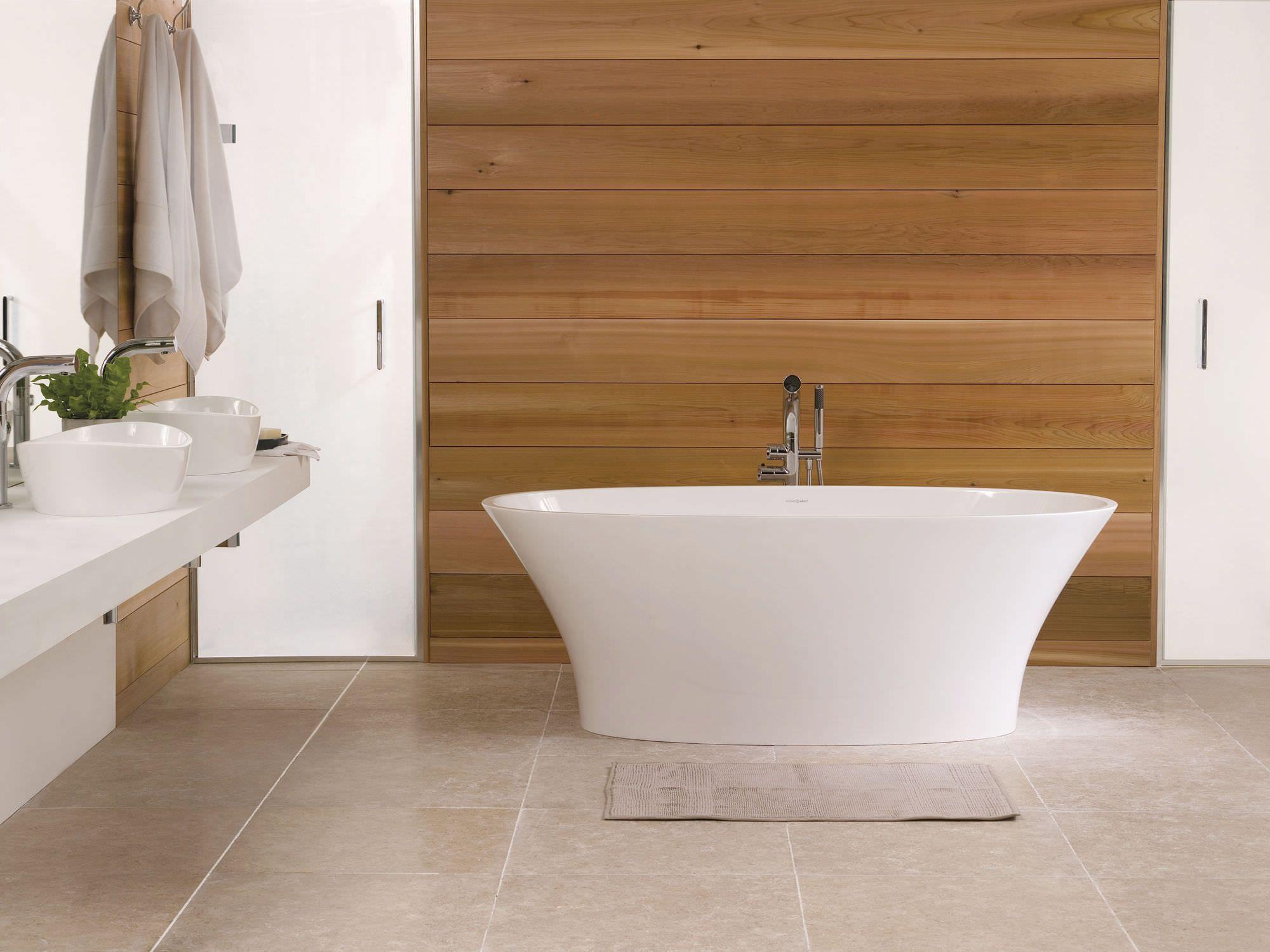 Freestanding bathtub / oval / stone resin IONIAN Victoria + Albert ...