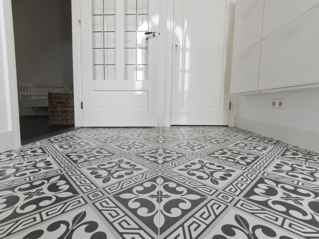 French Style Patterned Tiles Bright | Hall tiles | Pinterest ...