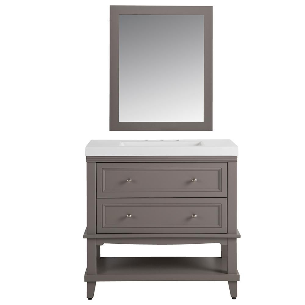 Home Decorators Collection Teasian In 36 In W Vanity In Taupe