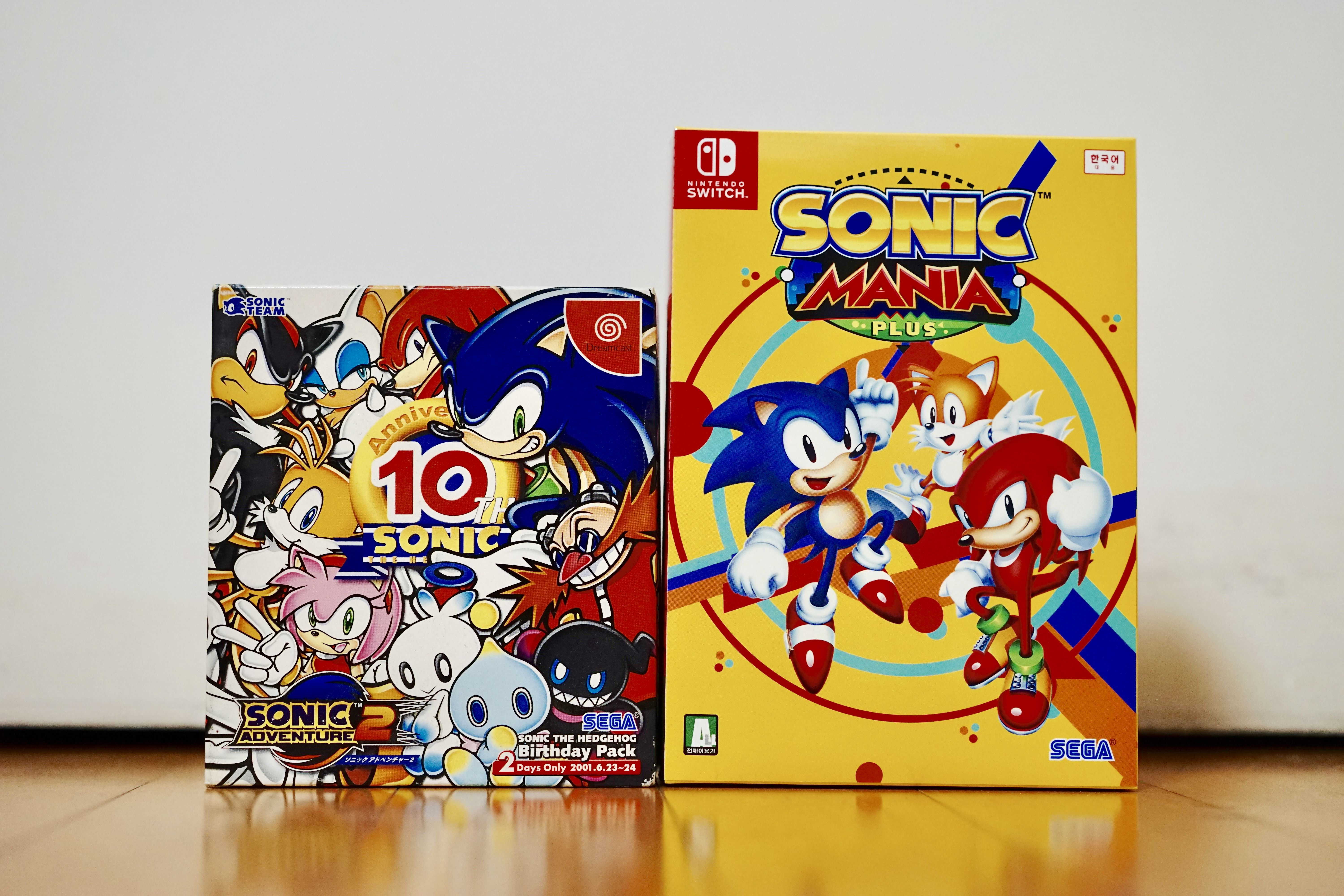 Sonic Mania Plus Limited Edition (NS) and Sonic 10th Birthday Pack