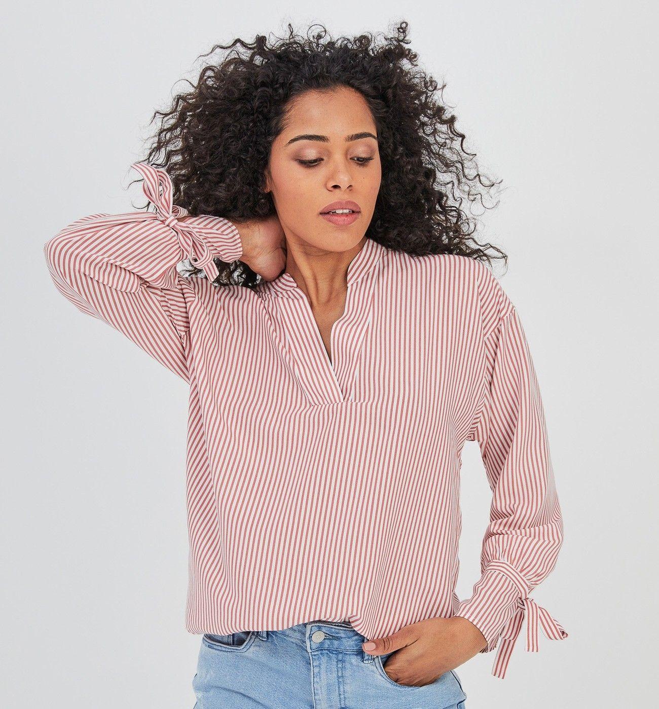 Bluse Mit Streifenmuster Altrosa Gestreift Damen Blusen Promod Fashion Women Clothes