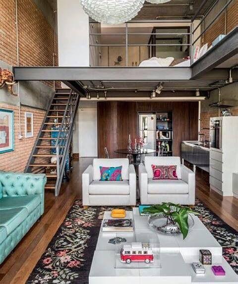 Kleines Wohndesign, Loft Wohnung, Kleine Wohnung Einrichten, Einrichten Und  Wohnen, Innenarchitektur, Wohnen Auf Engstem Raum, Maisonette Wohnung,  Treppe, ...