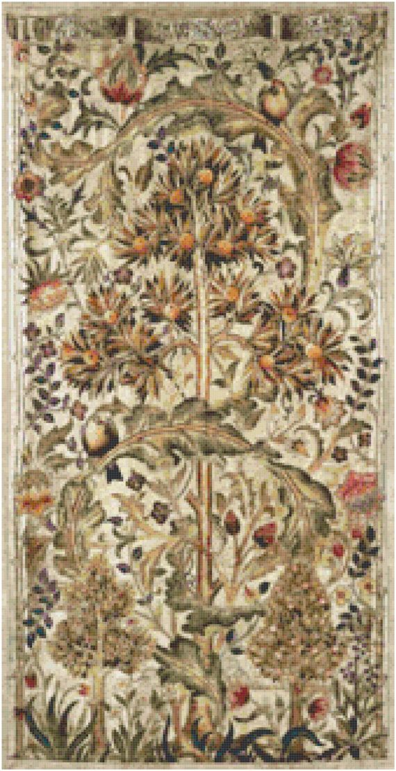 William Morris Summer Quince Tapestry Design Counted Cross