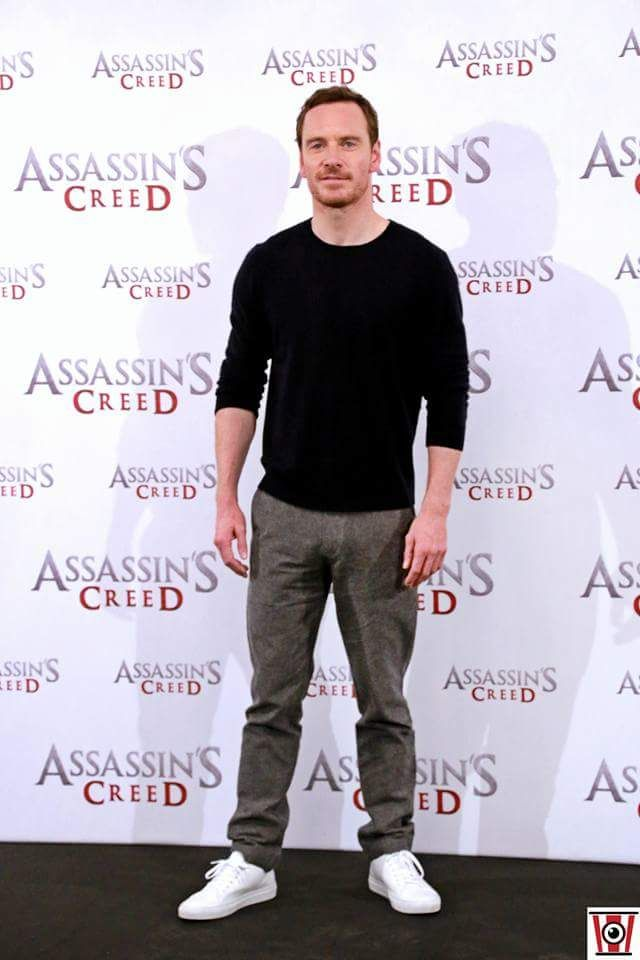 Michael Fassbender at the Madrid AC photo call. 7/12/2016