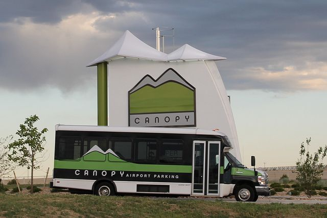 Canopy Shuttle Leaving Airport Parking Shuttling Canopy