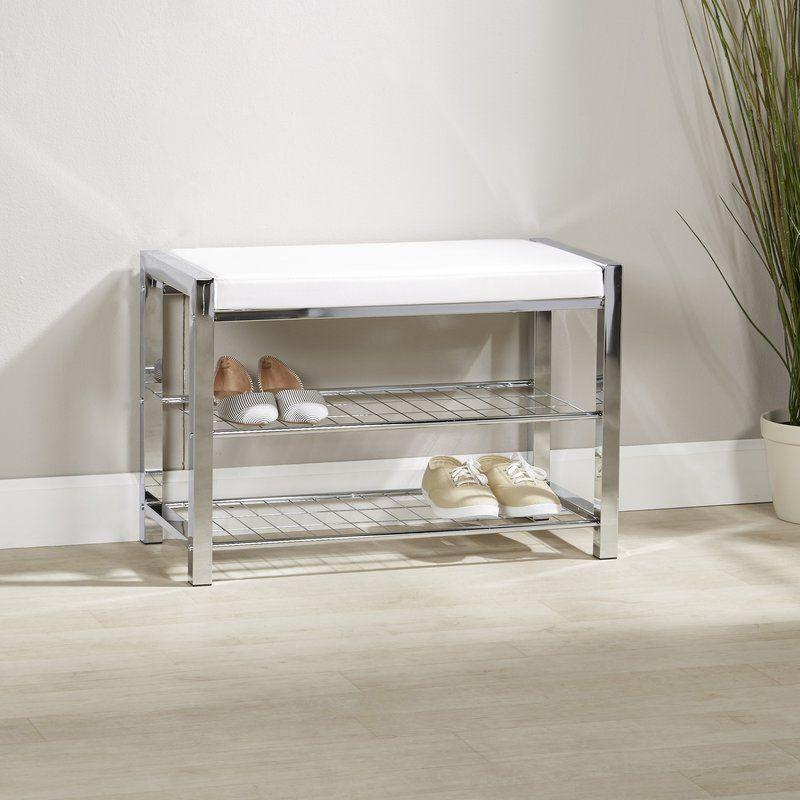 Jimerson Metal Storage Bench | Leather storage bench ...