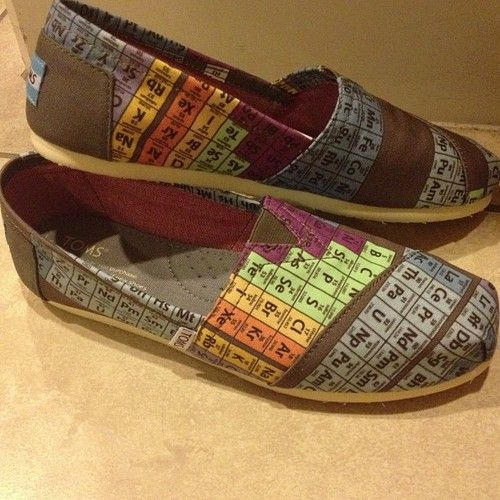 Periodic Table Toms Shoes Want Pinterest Periodic Table Shoes