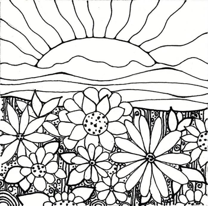 Download Flower Garden Coloring Pages Printable Painting
