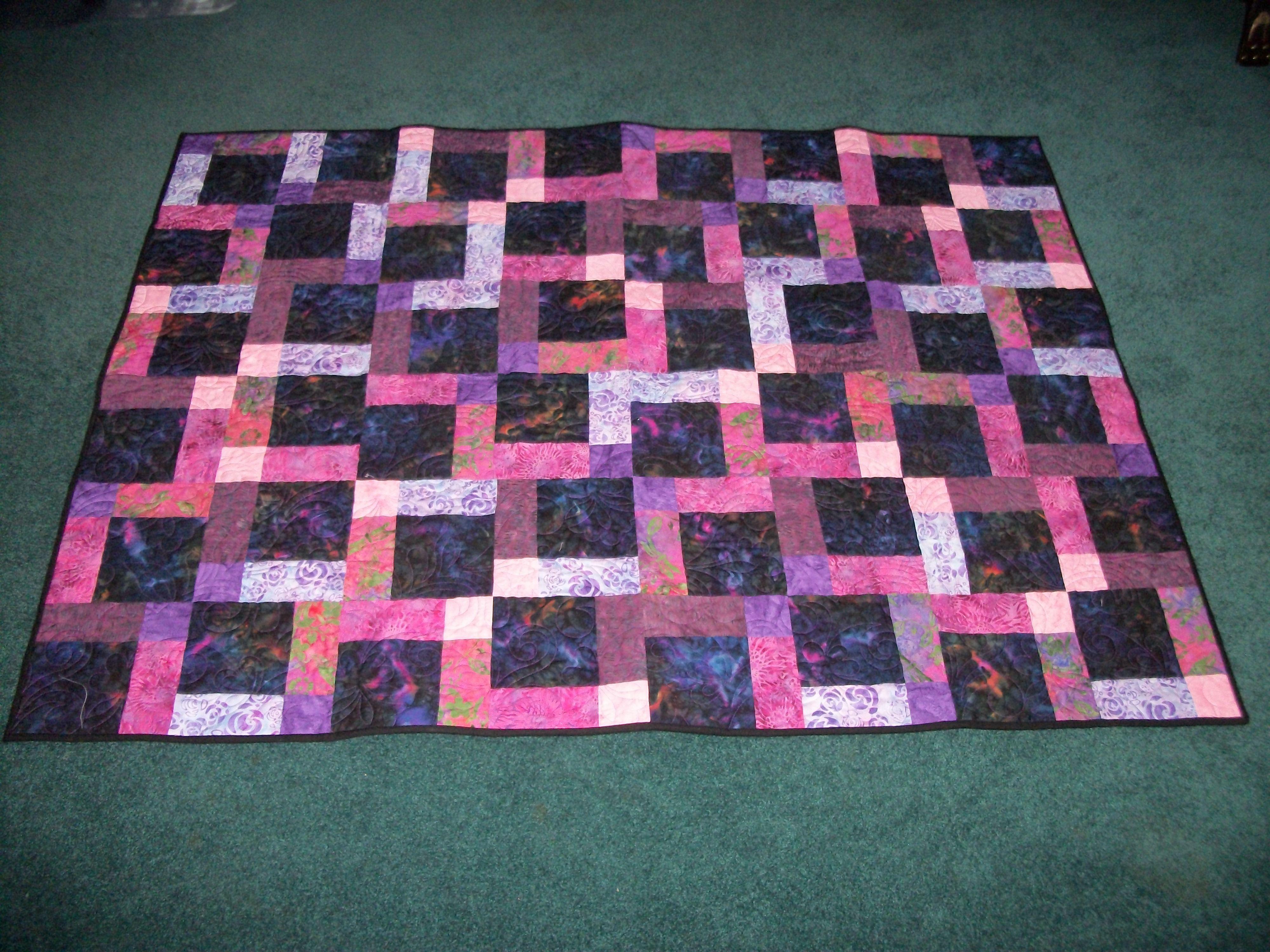 D9P Pink and Purple Batiks