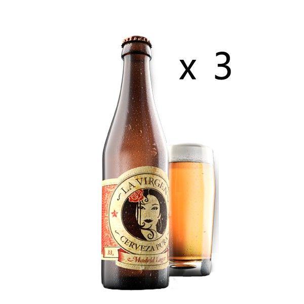 Cerveza Madrid La Virgen 3 X 33 Cl Cerveza Cerveceria