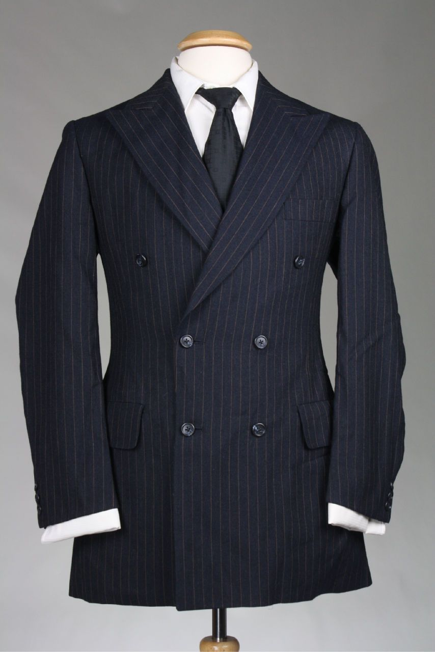 Vintage Austin Reed Black Pinstripe Double Breasted 2 Piece Wool Suit 39 R Suits Wool Suit Vintage Austin
