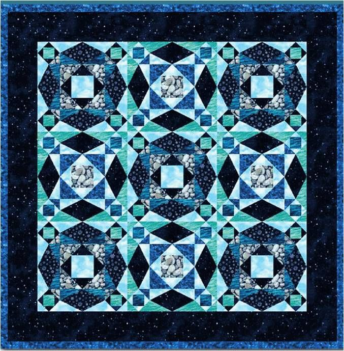 Storm-at-Sea Quilts, Free Block Diagrams And Patterns