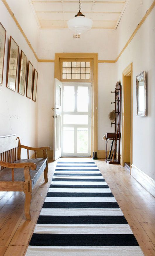 Dot Maison Inspiration Board On Stripes In The Home Black And White Stripe Runner