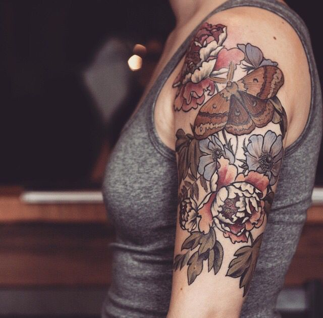 Colors Tattoos For Women Half Sleeve Brown Tattoo Ink Sleeve Tattoos For Women