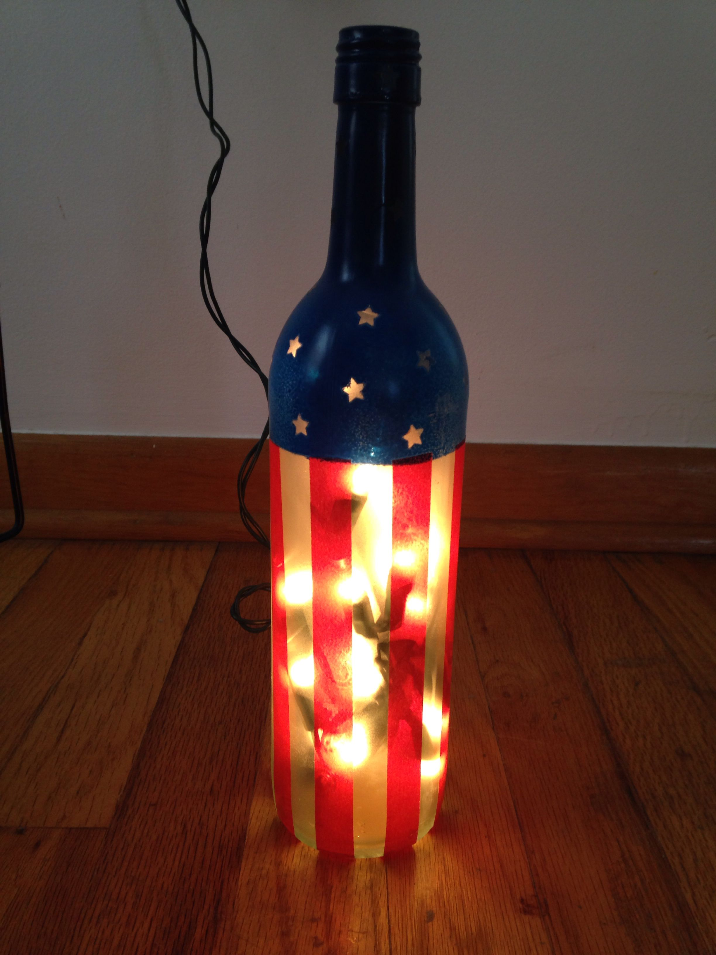 Pin By Katie Holden On Created Painting Glassware Lighted Wine Bottles Wine Bottle Art
