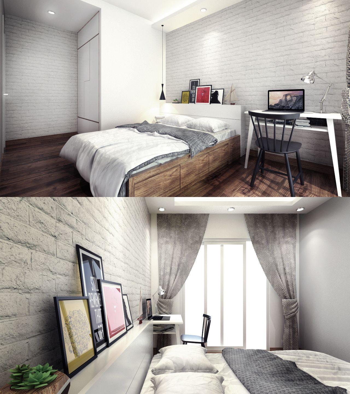 Sketchup Home Design: Daughter Bedroom_vray Sketchup_photoshop