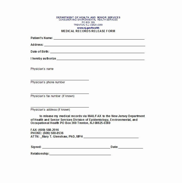 30 Information Release Form Template In 2020 Templates