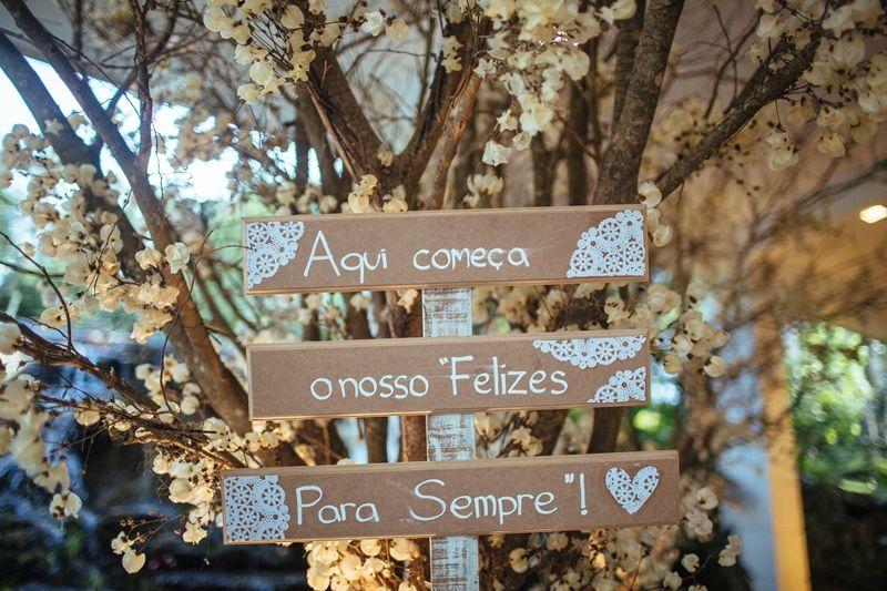 Plaquinhas personalizadas - Casamento Amanda Abreu e Noman Khan