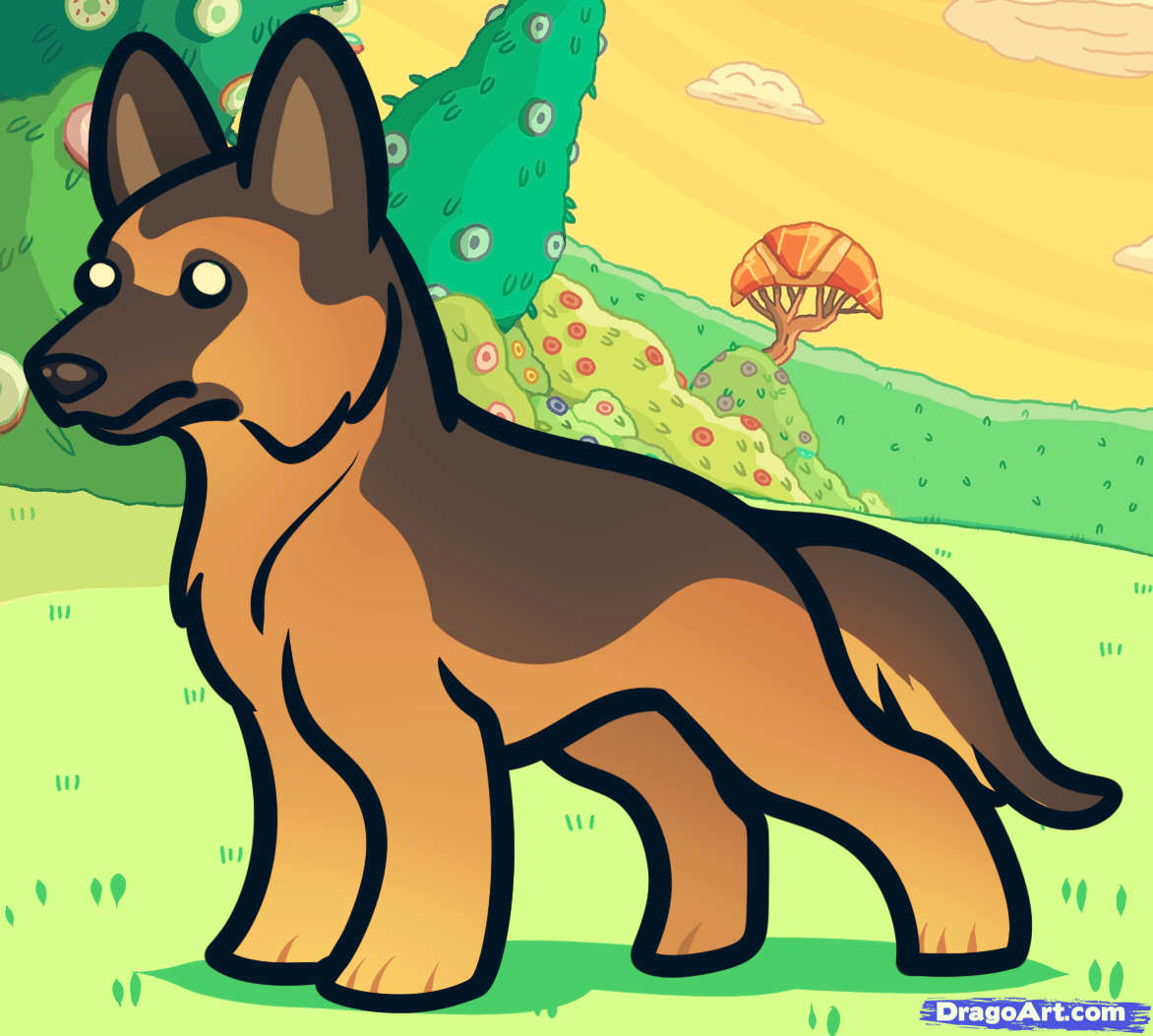 24 Best Images About Dogs To Draw On Pinterest Shapes For Kids, German  Shepherds And