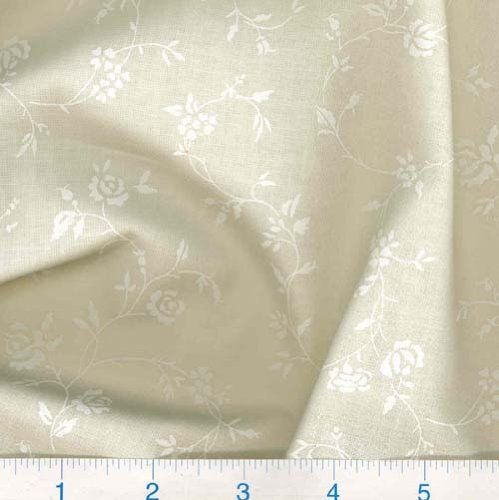108' Quilt Backing Tone on Tone Floral White/Ivory Fabric Richard ... : white tone on tone quilt fabric - Adamdwight.com
