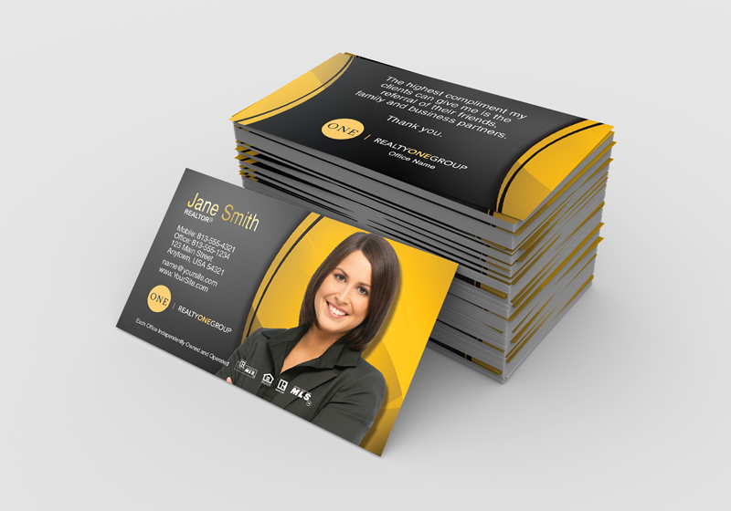 Realty One Group Business Card Templates Pae Team Business