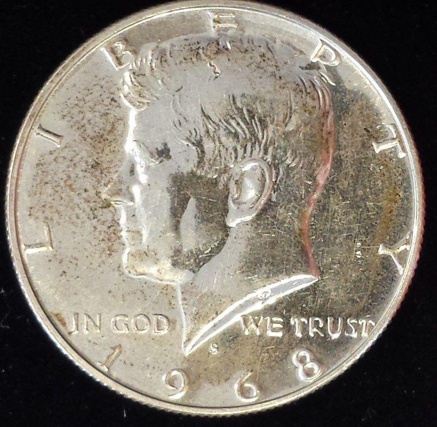 1968 S 50c Silver Kennedy Half Dollar Historic Very Nice Coin Beautiful Details Half Dollar Kennedy Half Dollar Coins
